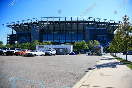 Lincoln Financial Field is shown before an NFL football game between the Philadelphia Eagles and the Los Angeles Rams, in Philadelphia