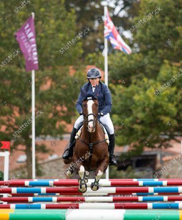 Zara Tindall with Class Affair on the final day of the Burnham Market International Horse Trials Norfolk