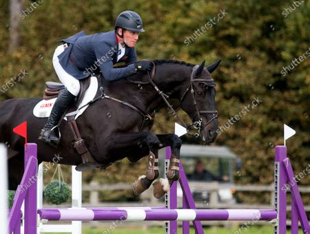 Oliver Townend and Tregilder during the Show Jumping at the Burnham Market International Horse Trials 2020