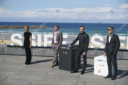 Laetitia Dosch, David Thion, Philippe Martin during 68th San Sebastian International Film Festival at Kursaal Palace on in Donostia, San Sebastian, Spain