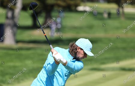 Thomas Pieters of Belgium on the first tee during the final round of the 2020 US Open at Winged Foot Golf Club in Mamaroneck, New York, USA, 20 September 2020. The 2020 US Open will be played from 17 September through 20 September in front of no fans due to the ongoing coronovirus pandemic.