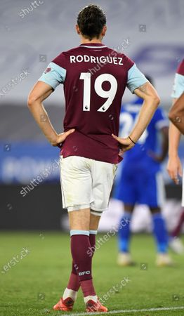 Burnley's Jay Rodriguez reacts during the English Premier League soccer match between Leicester City and Burnley in Leicester, Britain, 20 September 2020.