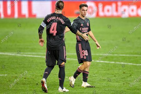 and Sergio Ramos of Real Madrid C.F
