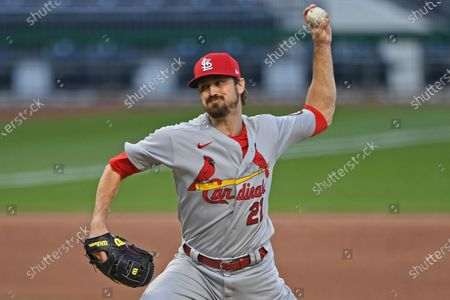 St. Louis Cardinals relief pitcher Andrew Miller delivers during the ninth inning of a baseball game against the Pittsburgh Pirates, in Pittsburgh