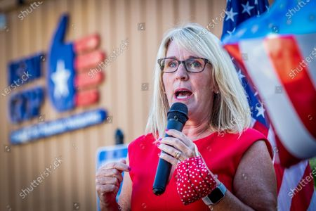 Michigan Republicans hold political rallies and events ahead of the general election in November on August 11, 2020 in Grand Rapids, Michigan. Pictured is Michigan GOP Chairwoman, Laura Cox.