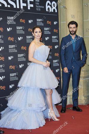 Blanca Suarez, Javier Rey attended 'El verano que vivimos' Red Carpet during 68th San Sebastian International Film Festival at Victoria Eugeia Teather on September 20, 2020 in Donostia / San Sebastian, Spain