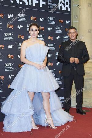 Blanca Suarez, Alejandro Sanz attended 'El verano que vivimos' Red Carpet during 68th San Sebastian International Film Festival at Victoria Eugeia Teather on September 20, 2020 in Donostia / San Sebastian, Spain