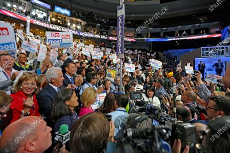 Editorial photo of Democratic National Nominating Convention, Wells Fargo Arena, Philadelphia, Pennsylvania, USA - 28 Jul 2016
