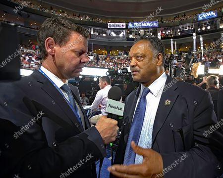 Patrick Gower and Reverend Jesse Jackson