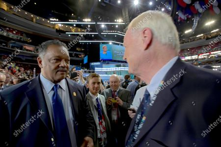 Stock Image of Reverend Jesse Jackson and Chris Matthews