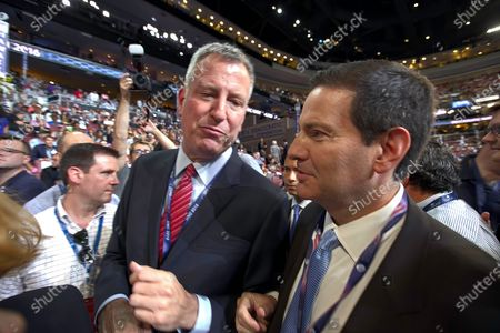 Mayor Bill de Blasio and Mark Halperin