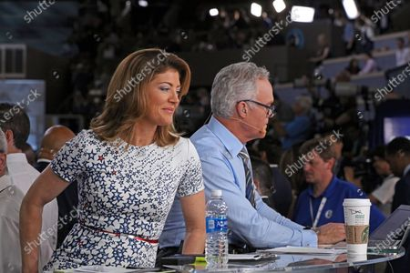 Stock Photo of Norah O'Donnell and Scott Pelley