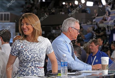 Stock Image of Norah O'Donnell and Scott Pelley