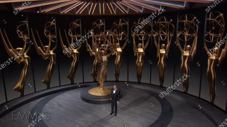 Jimmy Kimmel presents the Emmy for Outstanding Directing for a Comedy Series during the 72nd Emmy Awards telecast on at 8:00 PM EDT/5:00 PM PDT on ABC