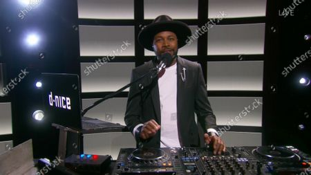 D-Nice speaks on stage during the 72nd Emmy Awards telecast on at 8:00 PM EDT/5:00 PM PDT on ABC