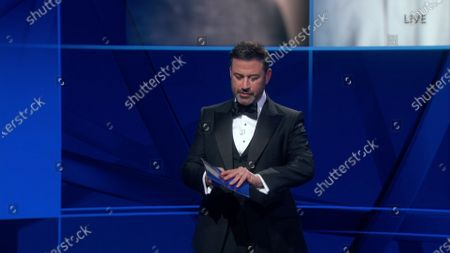 Jimmy Kimmel presents the Emmy for Outstanding Lead Actor in a Limited Series or Movie during the 72nd Emmy Awards telecast on at 8:00 PM EDT/5:00 PM PDT on ABC