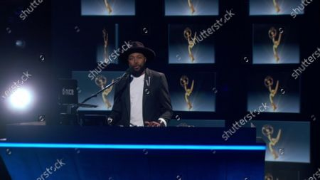Stock Picture of D-Nice presents the Emmy for Outstanding Lead Actor in a Limited Series or Movie during the 72nd Emmy Awards telecast on at 8:00 PM EDT/5:00 PM PDT on ABC