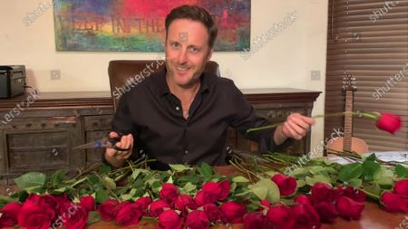 Chris Harrison speaks during the 72nd Emmy Awards telecast on at 8:00 PM EDT/5:00 PM PDT on ABC
