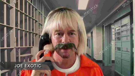 Stock Photo of David Spade, as Joe Exotic, speaks during the 72nd Emmy Awards telecast on at 8:00 PM EDT/5:00 PM PDT on ABC