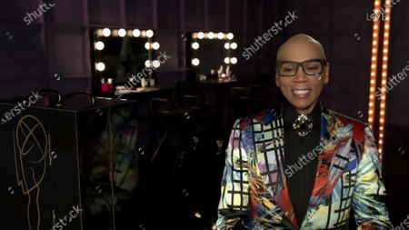 """Stock Picture of RuPaul from """"RuPaul's Drag Race"""" accepts the Emmy for Outstanding Competition Program during the 72nd Emmy Awards telecast on at 8:00 PM EDT/5:00 PM PDT on ABC"""