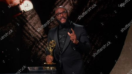 Stock Picture of Tyler Perry accepts the Governors Award during the 72nd Emmy Awards telecast on at 8:00 PM EDT/5:00 PM PDT on ABC