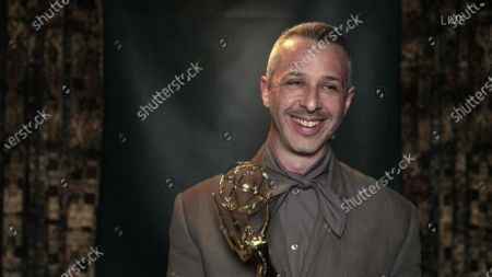 """Stock Picture of Jeremy Strong accepts the Emmy for Outstanding Lead Actor in a Drama Series for """"Succession"""" during the 72nd Emmy Awards telecast on at 8:00 PM EDT/5:00 PM PDT on ABC"""