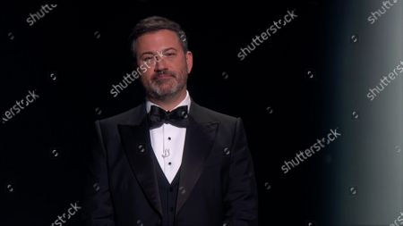 Stock Picture of Jimmy Kimmel presents the in memoriam segment during the 72nd Emmy Awards telecast on at 8:00 PM EDT/5:00 PM PDT on ABC