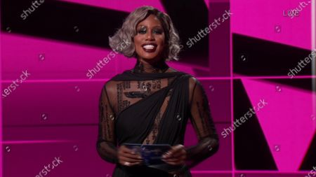 Laverne Cox presents the Emmy for Outstanding Directing for a Drama Series during the 72nd Emmy Awards telecast on at 8:00 PM EDT/5:00 PM PDT on ABC