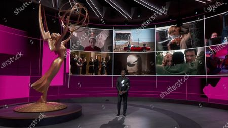 Stock Photo of Sterling K. Brown presents the Emmy for Outstanding Drama Series during the 72nd Emmy Awards telecast on at 8:00 PM EDT/5:00 PM PDT on ABC