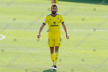 "Stock Picture of Jose Mari (Cadiz) - Football / Soccer : Spanish ""La Liga Santander"" match between SD Huesca 0-2 Cadiz CF at the Estadio El Alcoraz in Huesca, Spain."