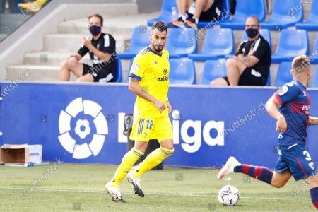 "Alvaro Negredo (Cadiz) - Football / Soccer : Spanish ""La Liga Santander"" match between SD Huesca 0-2 Cadiz CF at the Estadio El Alcoraz in Huesca, Spain."