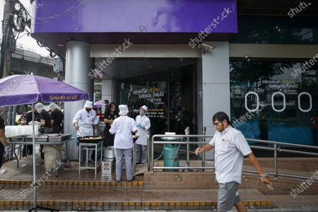 Editorial image of Thai Airways office in Bangkok turns into inflight-style cafeteria amid company crisis, Thailand - 21 Sep 2020