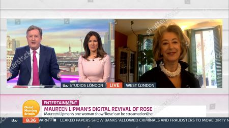 Piers Morgan, Susanna Reid and Maureen Lipman
