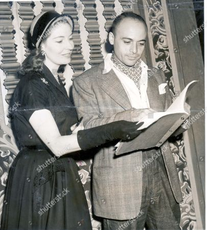 Rehearsals For The King And I At The Drury Lane Theatre Actors Herbert Lom And Valerie Hobson Will Play The King Of Siam And Anna The English School Teacher.
