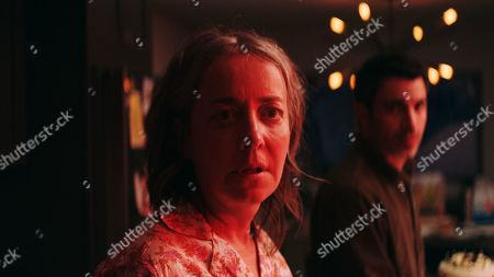 Stock Picture of Jane Adams as Jane and Chris Messina as Jason