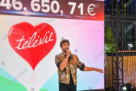 Stock Picture of The fundraising operation for the benefit of scientific research against leukemia and cancer. This 2020 edition with Covid-19 rules brought in 10,546,650 euros. The sponsor of this edition was Agustin Galiana. Different personalities wished to support the cause. Thus the presence of Kendji Girac, Vincent Niclo, Salvatore Adamo, Typh Barrow, Fanny Leeb, Loic Nottet.