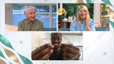 Phillip Schofield, Holly Willoughby and Richard Essien, A.K.A. Magical Bones