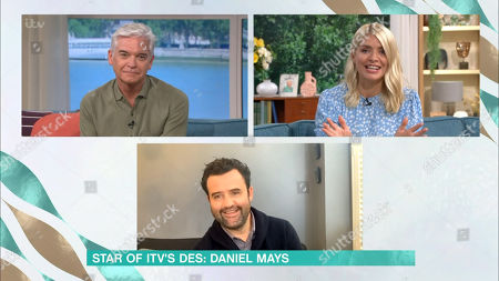 Phillip Schofield, Holly Willoughby and Daniel Mays