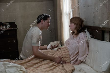 Bill Skarsgard as Willard Russell and Haley Bennett as Charlotte Russell