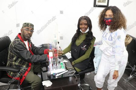 Stock Picture of Dex Diamond, Kyra and Angela Yee