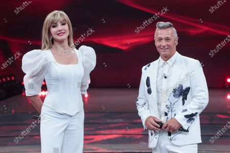 Tv hosts Milly Carlucci, Paolo Belli