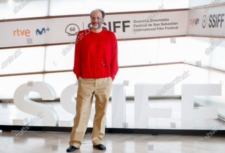 Luca Guadagnino, President of the Jury of Festival's official section, poses for the photographers after he presented the HBO's series 'We Are Who We Are' as part of 68th San Sebastian International Film Festival in the city of San Sebastian, northern Spain, 21 September 2020. The film festival will run from 18 to 26 September 2020 under safety measures like obligatory face mask use and red carpets without public due to the Covid-19 coronavirus pandemic. Organizers have also reduced the number of film screenings as well as the seating capacity in cinemas.
