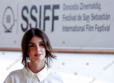 Paz Vega poses during the photocall of the film 'The Mud', as part of 68th San Sebastian International Film Festival, in San Sebastian, Spain, 21 September 2020. The film festival will run from 18 to 26 September 2020 under safety measures like obligatory face mask use and red carpets without public due to the Covid-19 coronavirus pandemic. Organizers have also reduced the number of film screenings as well as the seating capacity in cinemas.