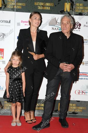 Abel Ferrara, wife and daughter