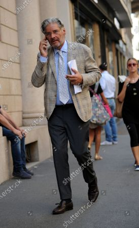 Stock Image of Author, Paolo Del Debbio walks through the streets of the center.