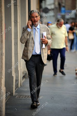 Editorial photo of Paolo Del Debbio out and about, Milan, Italy - 18 Sep 2020
