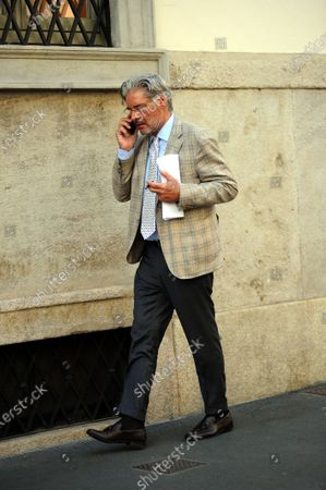 Editorial image of Paolo Del Debbio out and about, Milan, Italy - 18 Sep 2020