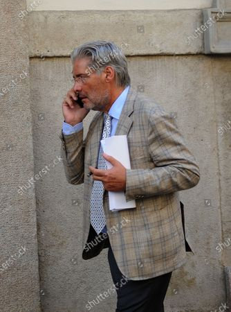 Editorial picture of Paolo Del Debbio out and about, Milan, Italy - 18 Sep 2020