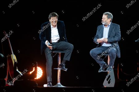 Stock Picture of Gianni Morandi and Michele Serra