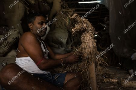 Editorial photo of Life of idol maker during pandemic, Tehatta, West Bengal, India - 20 Sep 2020